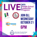 Information Session on Middle School Programs for 5th and 6th Grade Families