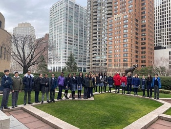 8th Grade Students Tour Fordham University to Kick off #CSW2020