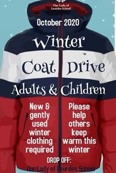 October Coat Drive Begins - Wednesday, October 21st