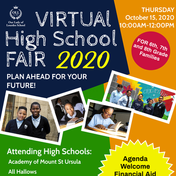 OLL Virtual High School Fair October 15th from 10am-12pm