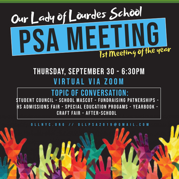 PSA Virtual Meeting - First of the School Year