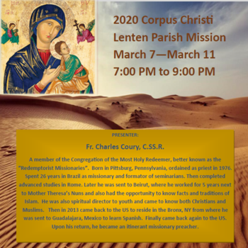 Corpus Christi Lenten Mission - Christ, be My Light