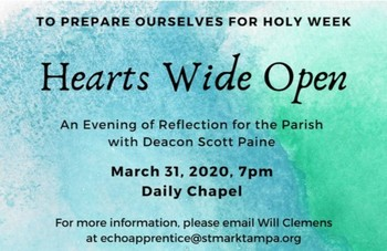St. Mark the Evangelist Catholic Church - Hearts Wide Open
