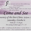 Come and See: Vocations event at Monastery of the Poor Clares