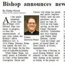 Bishop announces new Co-Vicar for Clergy