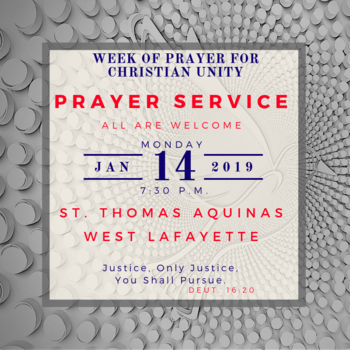 Prayer Service for Week of Prayer for Christian Unity
