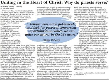 Uniting in the Heart of Christ: Why do priests serve?