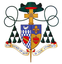 Bishop Doherty Coat Arms Word God Unchained