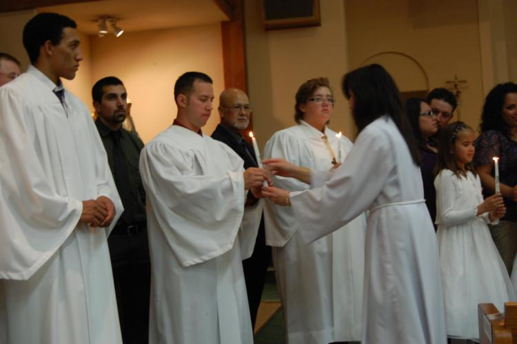 ... Catholic Church through Baptism, or receive First Communion as an adult, ...