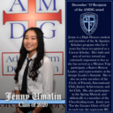 Senior Jenny Umalin is Bishop Canevin's December recipient of the AMDG award