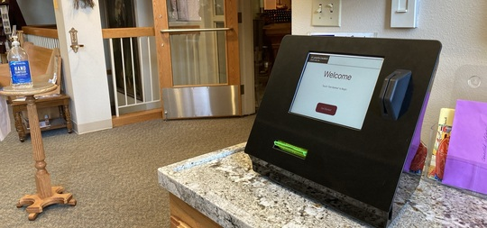 Credit Card Kiosk in Mother Theresa Hall