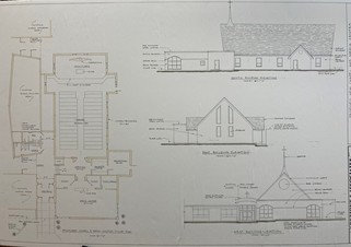 Architectural drawing of chapel