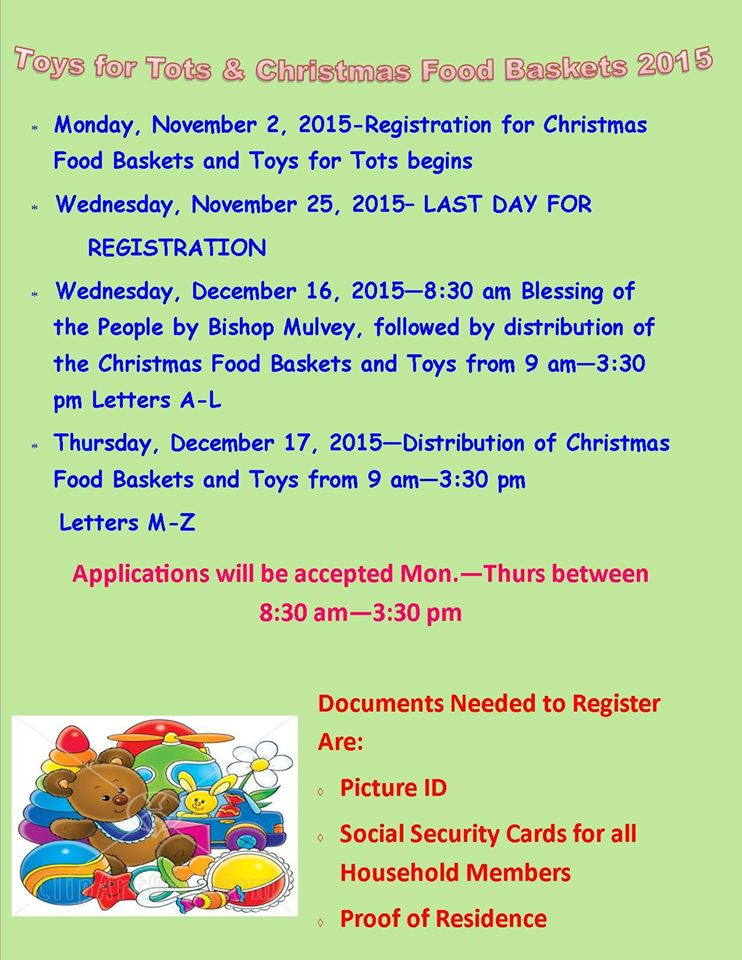 Organization For Toys For Tots Application Form : Toys for tots and christmas food baskets registration