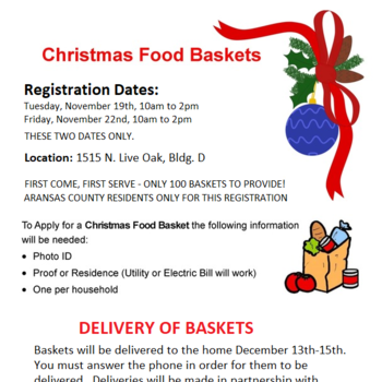 Christmas Food Baskets Aransas County