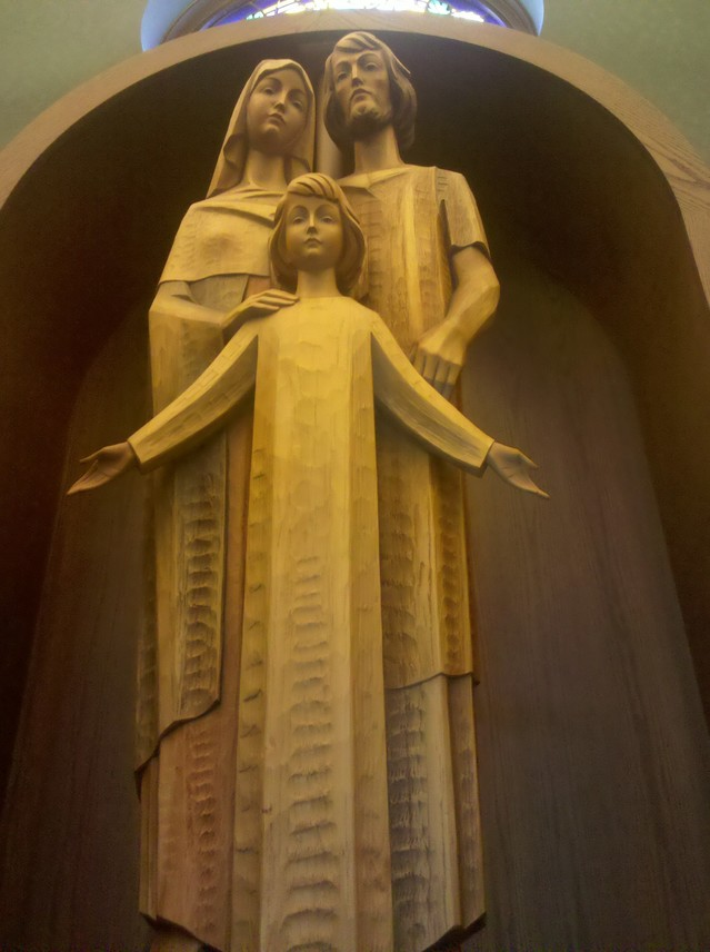 Wooden Sculpture of the Holy Family