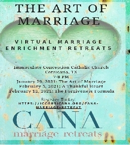 DON'T FORGET TO REGISTER FOR THE ART OF MARRIAGE OUR ON LINE PROGRAM