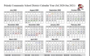 PCSD Yearly Calendar