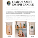 Year of St. Joseph Candle Sale