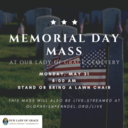 Memorial Day Mass at Our Lady of Grace Cemetery