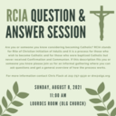 RCIA Question & Answer Session