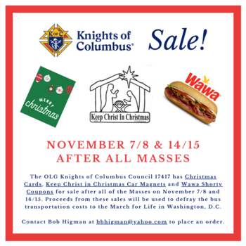 Knights of Columbus Fundraising Sale
