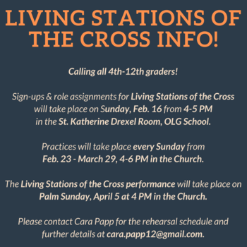 Living Stations of the Cross - Signups & Info