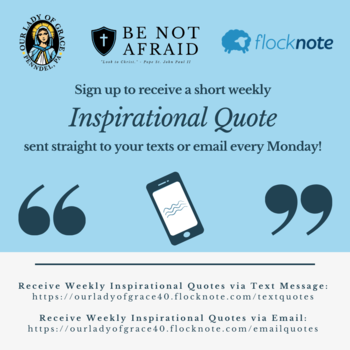 Sign Up to Receive Weekly Inspirational Quotes from OLG!