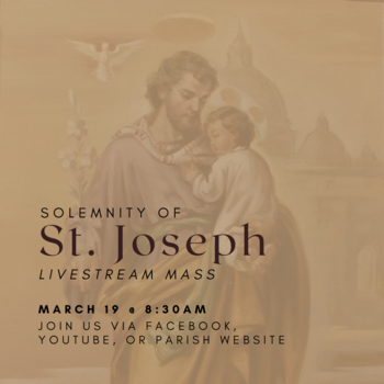 Feast Day of St. Joseph – March 19, 2021
