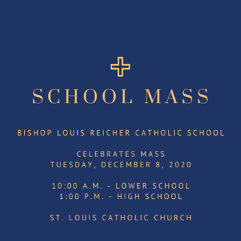 Tuesday, December 8, is Mass