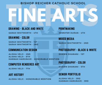 Fine Arts Students Recognized by TAPPS