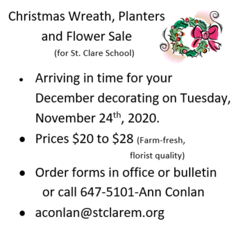 Fundraiser - Live Wreaths, Poinsettias, and Planters