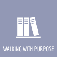 Walking with purpose button