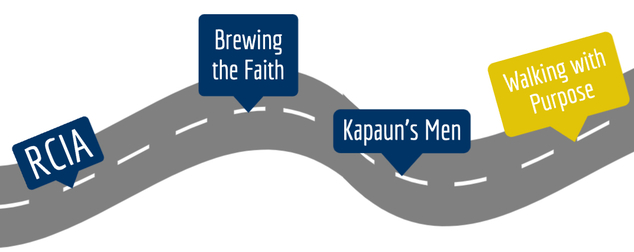 Roadmap of faith formation. Highlit: Walking with Purpose
