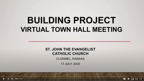 Building Project Virtual Town Hal Meeting