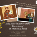 Holy Hour of Transitus with Franciscan Sisters
