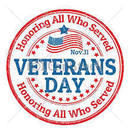Veteran's Day - No school