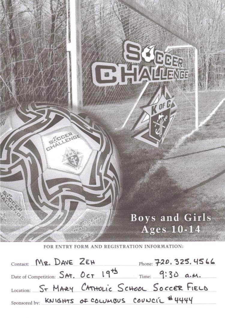District and Regional Soccer Challenge competitions