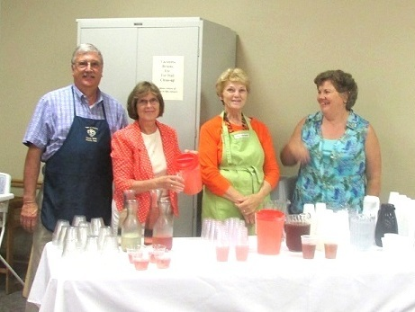 Serving Beverages at Sr. Virginia's Jubilee Luncheon