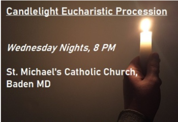 Candlelight Eucharistic Procession