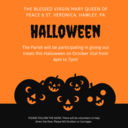 The Parish to Participate In Giving Out Treats This Halloween from 4pm to 7pm