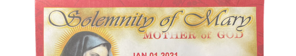 SOLEMNITY OF MARY ENVELOPE
