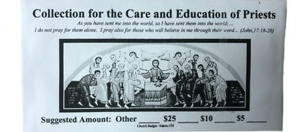 Second Collection Care & Education of Priests