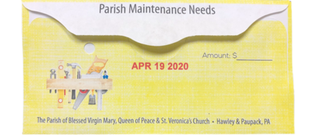 Second Collection is for Parish Maintenance Needs