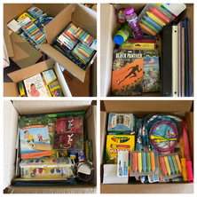 The Refugee Outreach Club collected school supplies for area families.