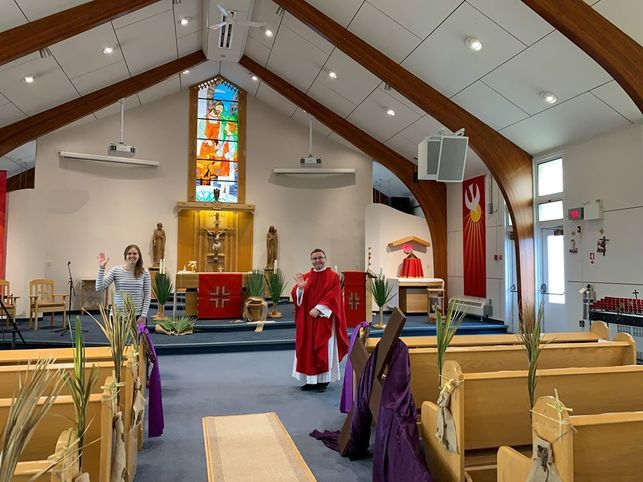 Liturgy of the Word celebrated by a military chaplain known as Lay Pastoral Associate
