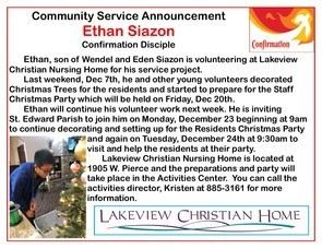 Ethan Siazon - Community Service Project