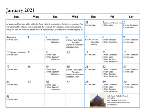 Click the calendar for enlarged version