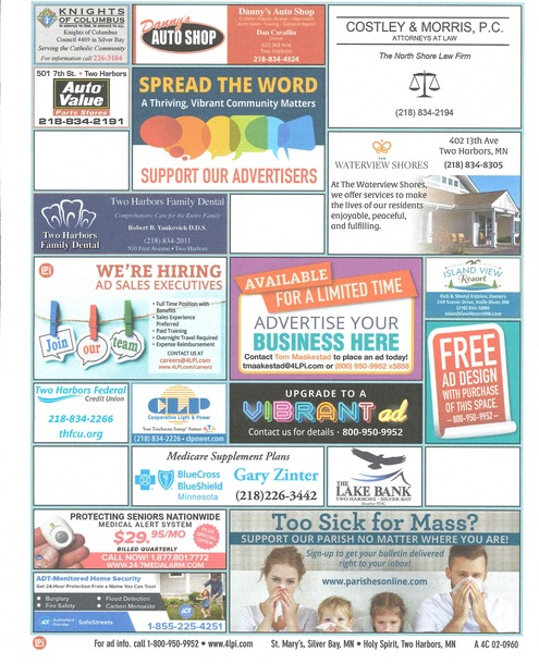 Support those who make our bulletin printing possible