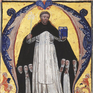 St Dominic with some of the first Dominican Nuns