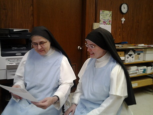 Dominican nuns working